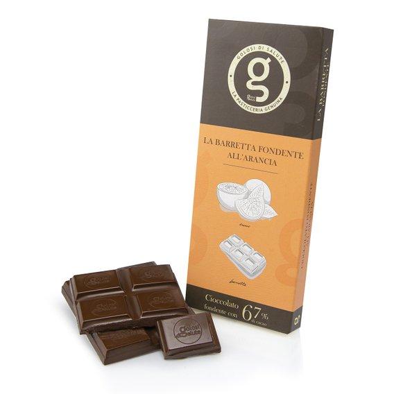 Barretta Cioccolato Fondente 67% Arancia 75g