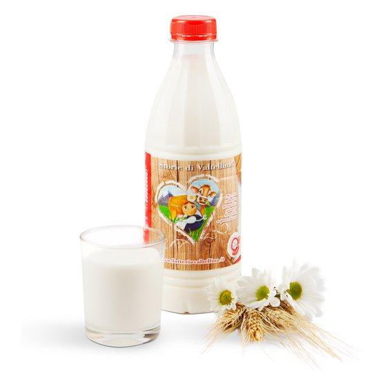 Latte fresco parzialmente scremato 1l