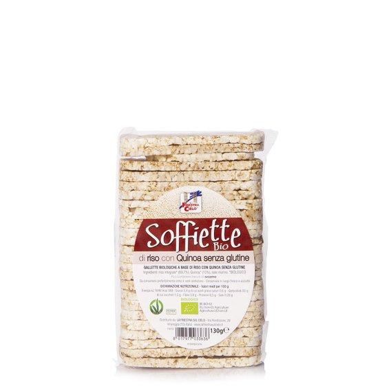 Soffiette di Riso e Quinoa Bio Senza Glutine  130g