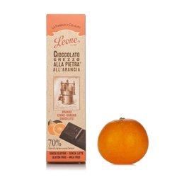 Tavoletta di cioccolato grezzo all'arancia 55g