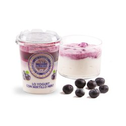 Yogurt con mirtillo nero 180g