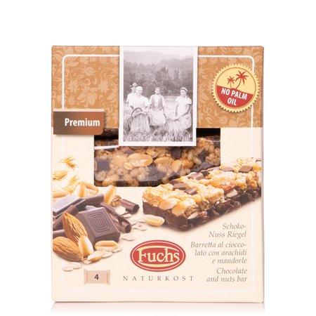 Barrette al Cioccolato con Mandorle e Anacardi 4x32g