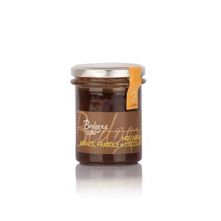 Mostarda di Arance, Fragole e Cioccolato 240g