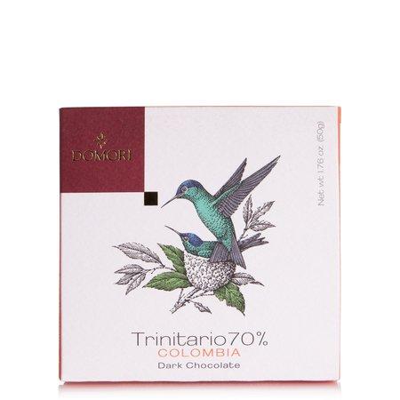 Tavoletta di Cioccolato con Cacao Trinitario 70% Colombia  50g