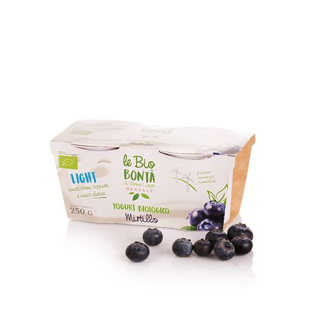 Yogurt Magro al Mirtillo Bio 2x125g