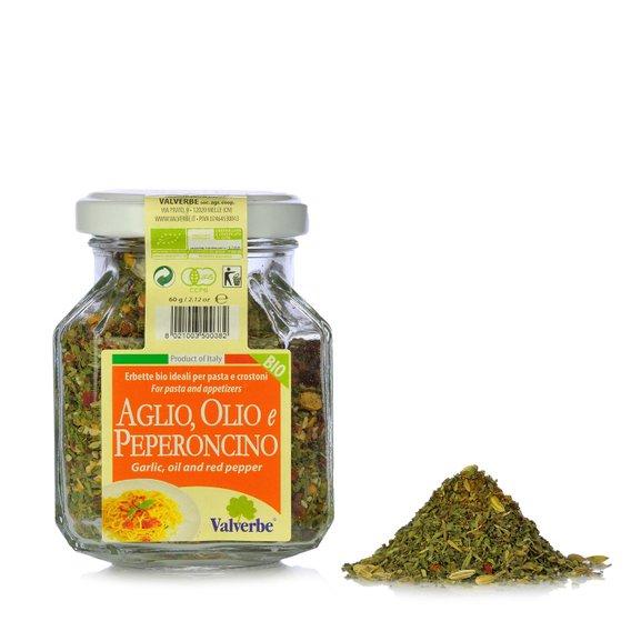 Condimento per Aglio, Olio e Peperoncino Bio 60g