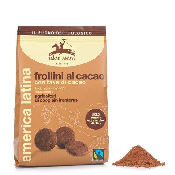 Frollini Biologici al Cacao con Fave di Cacao 250g