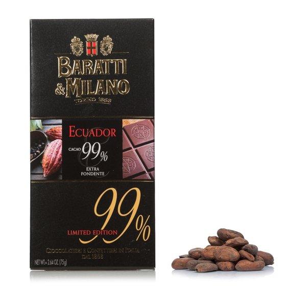Tavoletta Extra Fondente Ecuador 99%  75g