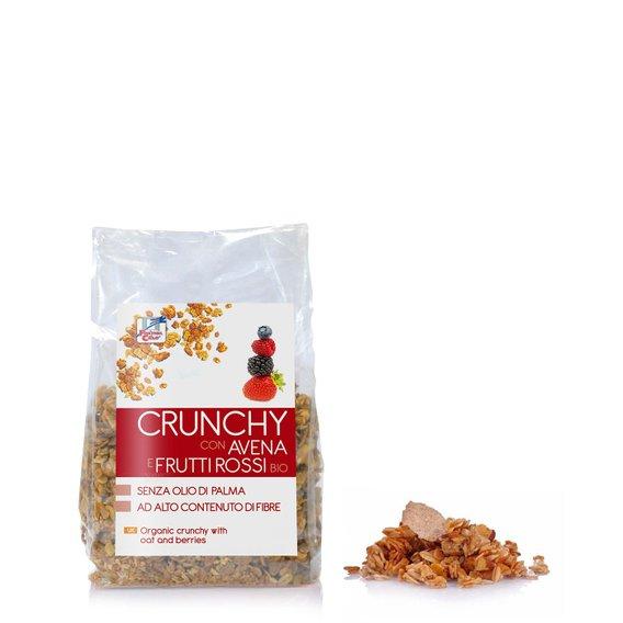 Crunchy Avena Frutti Rossi Bio  375g