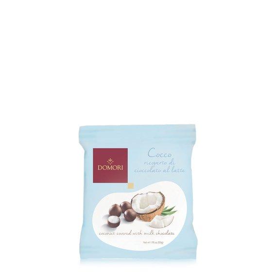 Dragees al Cocco Ricoperte al  Cioccolato  50g