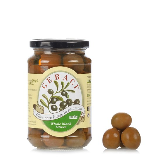 Olive Nere Intere in Salamoia 200g