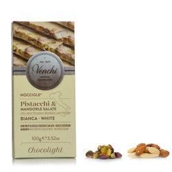 Tavoletta Bianco Light Salato Pistacchi 100g