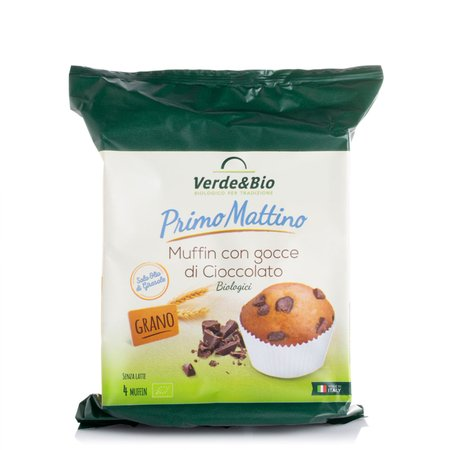 Muffin Bio con Gocce di Cioccolato 180g