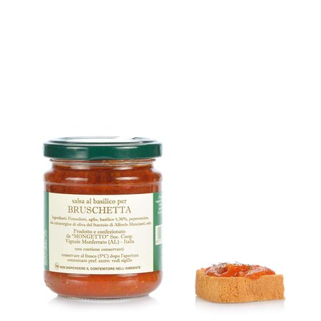 Salsa al Basilico per Bruschetta 180g