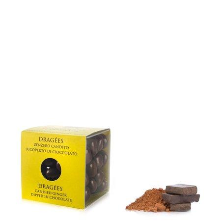 Dragées Zenzero candito ricoperto di cioccolato fondente 120g