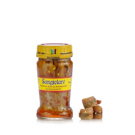 Filetti di Alici e Peperoncino 90g