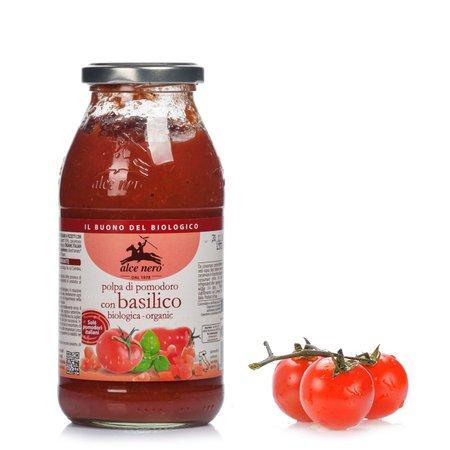 Pomodoro a pezzettoni con basilico 500g