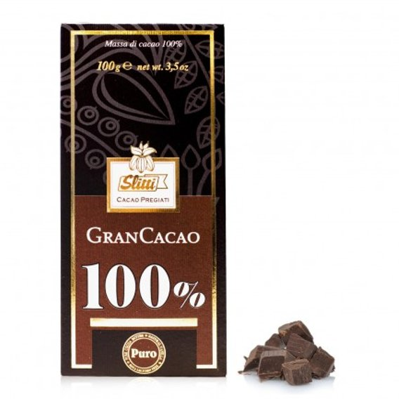Tavoletta Gran Cacao Massa di Cacao 100% 100g