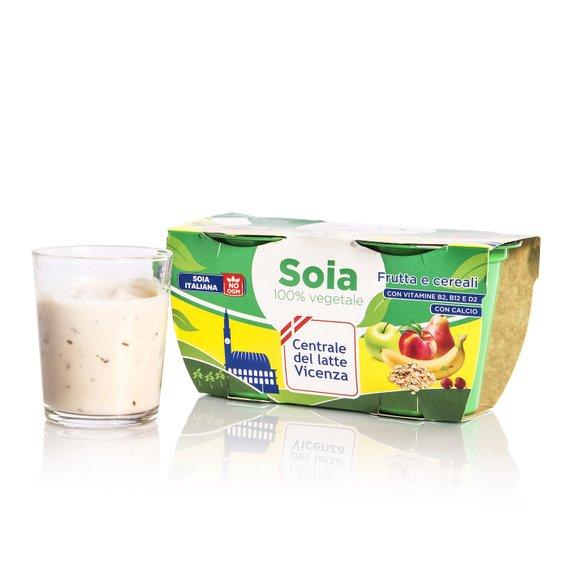 Yogurt di Soia Frutta e Cereali 2x125g