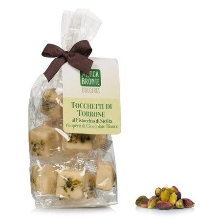 Tocchetti di Torrone con Pistacchio e Cioccolato Bianco 200g