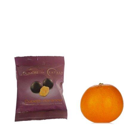 Cubetti d'arancia ricoperti di cioccolato 50g