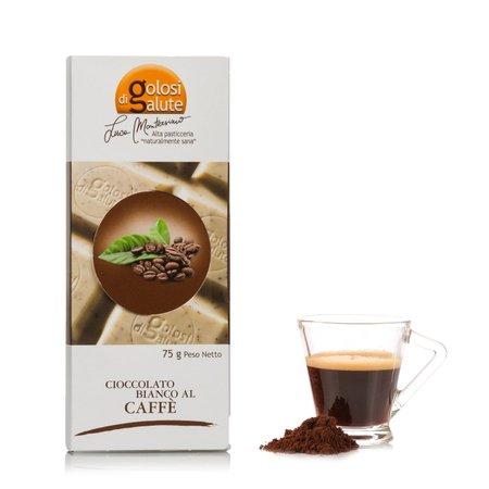Barretta di Cioccolato Bianco al Caffe 75g
