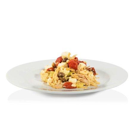 Insalata di Galletto con Pomodorino Secco, Feta e Olive Taggiasche  200g