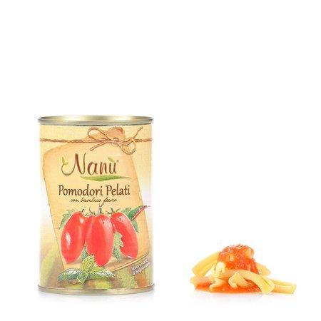 Pomodori Pelati con Basilico  400g