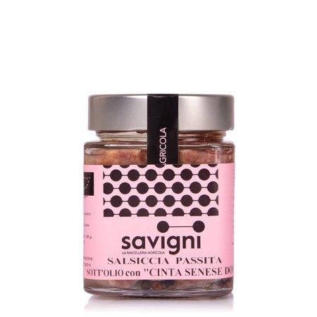 Salsiccia Passita Sott'olio con Cinta Senese 200g