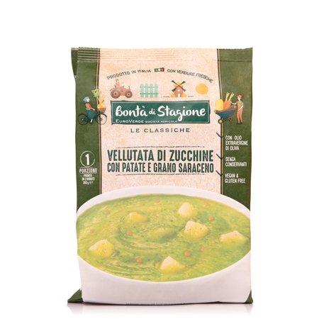 Vellutata di Zucchine con Patate e Grano Saraceno  350g