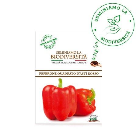 Semi Bio Peperone Quadrato D'Asti Rosso 0,5g