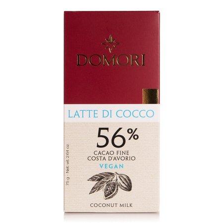 Tavoletta di Cioccolato con Latte di Cocco e Cacao Fine Costa d'Avorio 56% 75g