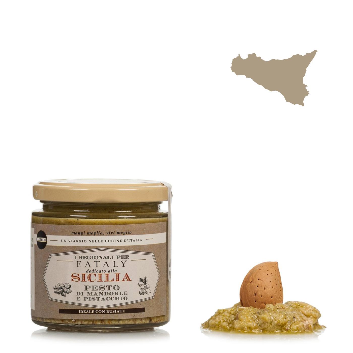 I Regionali per Eataly Pesto Pistacchi e Mandorle 220g