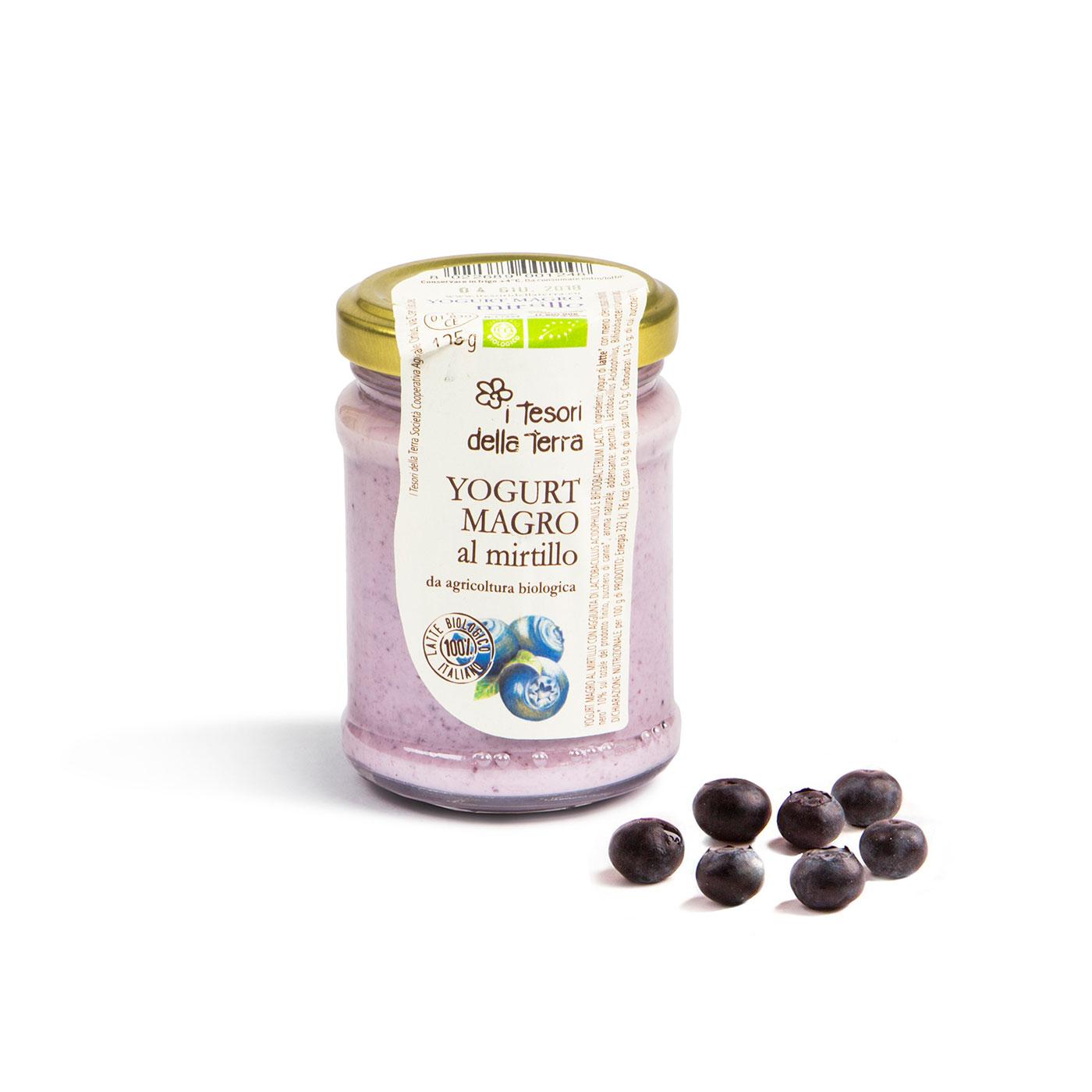 Tesori della Terra Yogurt Magro al Mirtillo Bio 125g