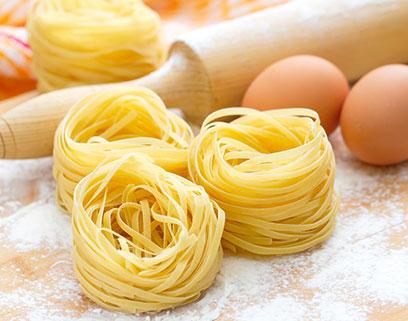 La pasta secca all'uovo