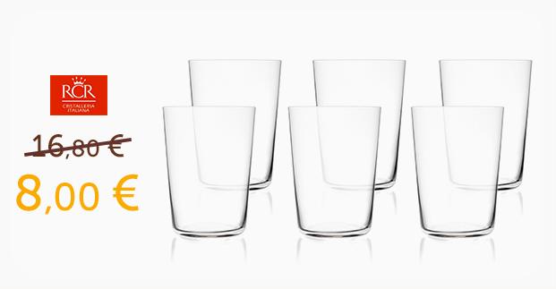 Set 6 bicchieri da acqua Enò - Scopri come averlo a un prezzo speciale!